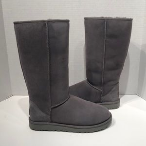 UGG Classic II Tall Grey Suede WaterResistant Boot
